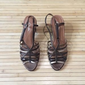 Clarks leather upper sandals